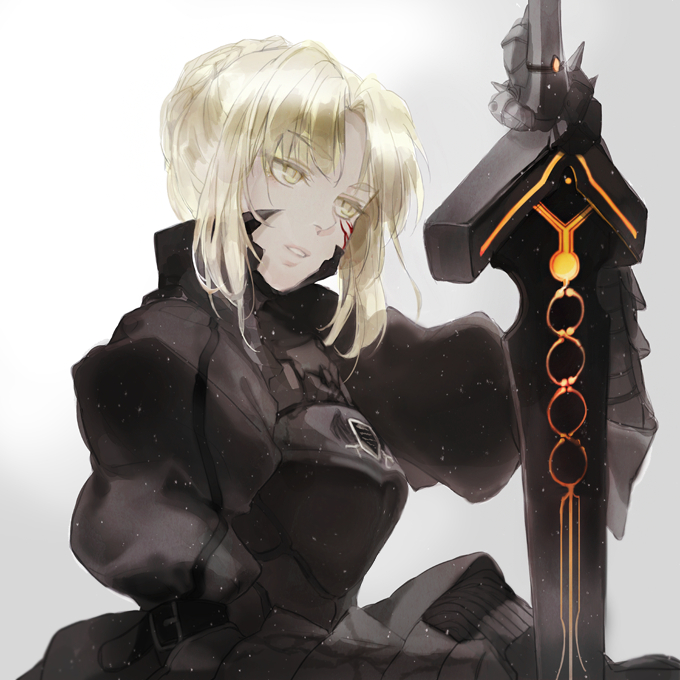 Tags: Anime, Chacall, Fate/stay night, Saber Alter, Saber (Fate/stay night), Fanart From Pixiv, PNG Conversion, Fanart, Pixiv