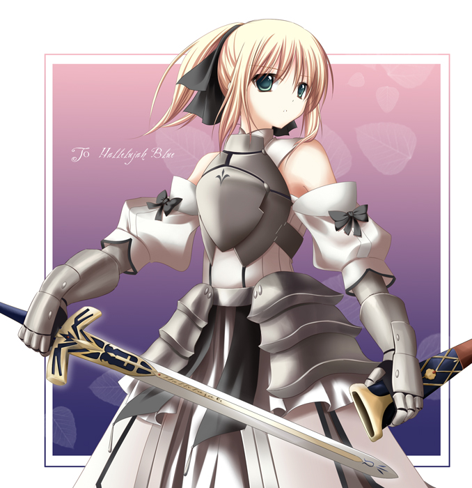 Tags: Anime, Fate/unlimited codes, Saber Lily, Saber (Fate/stay night), Yukifuri, Caliburn