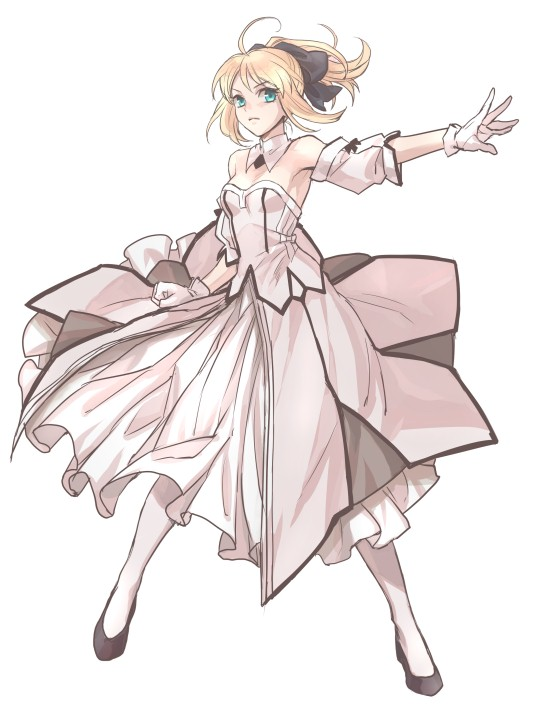 Tags: Anime, Nattou Mo, Fate/unlimited codes, Saber (Fate/stay night), Saber Lily