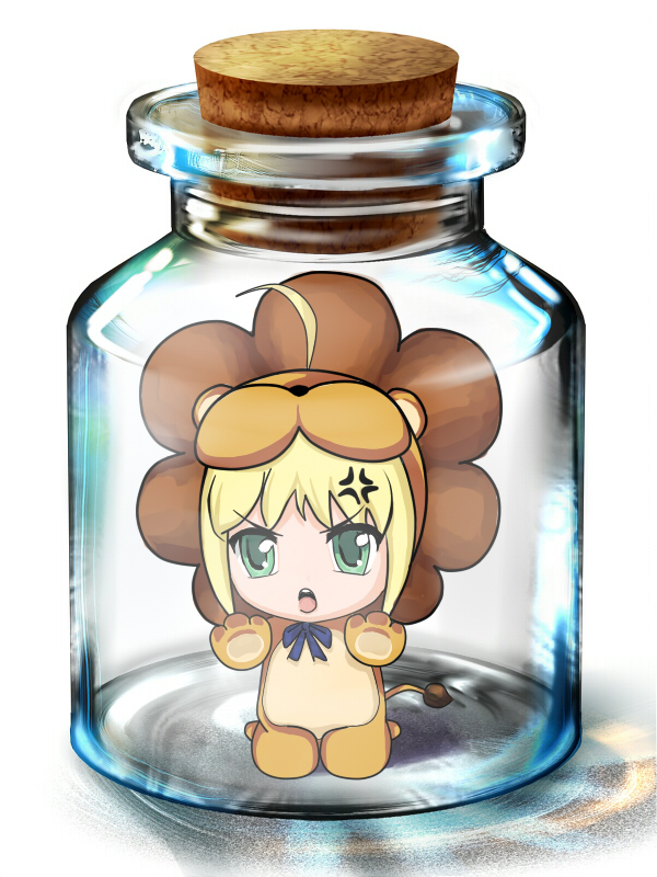 Tags: Anime, Pixiv Id 4328959, TYPE-MOON, Fate/tiger colosseum, Saber Lion, Saber (Fate/stay night), Pixiv Bottle, In a Bottle, Lion Costume, Pixiv