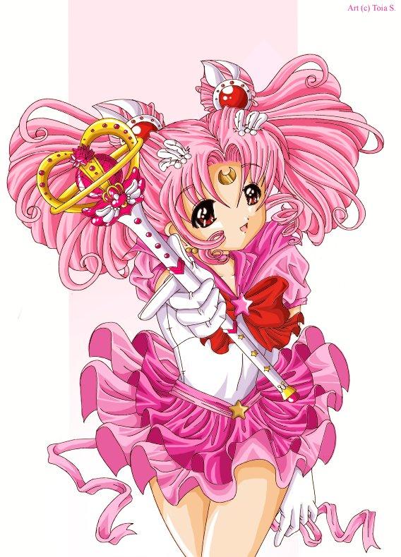 Tags: Anime, Toi-chan, Bishoujo Senshi Sailor Moon, Sailor Chibi Moon, Chibiusa, Eternal Tiare, Scepter, deviantART, Fanart