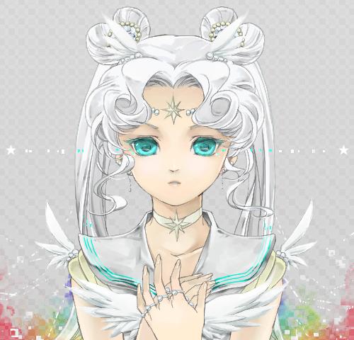 Tags: Anime, Saki Kunkatan, Bishoujo Senshi Sailor Moon, Sailor Cosmos, Fanart, PNG Conversion, Pixiv, Fanart From Pixiv