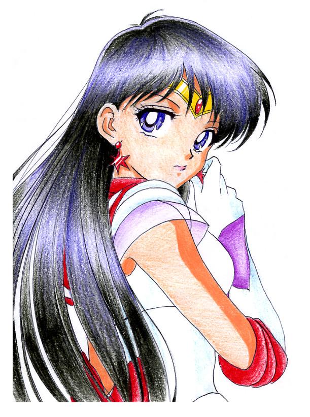 Tags: Anime, Rurutia8, Bishoujo Senshi Sailor Moon, Hino Rei, Sailor Mars, deviantART, Fanart, Traditional Media, Fanart From DeviantART, Artist Request