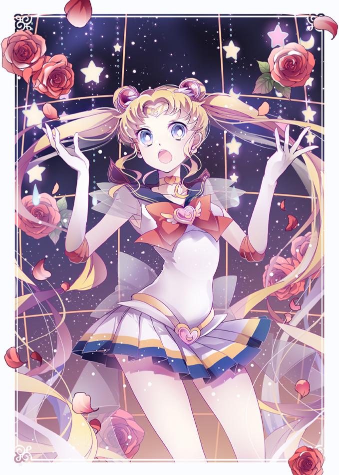 Tags: Anime, Iku2727, Bishoujo Senshi Sailor Moon, Tsukino Usagi, Sailor Moon (Character), Galaxy, Crisis Moon Compact, Fanart, Mobile Wallpaper, Pixiv, Fanart From Pixiv