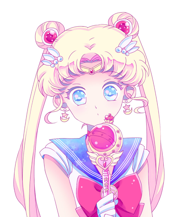 Tags: Anime, Saki Kunkatan, Bishoujo Senshi Sailor Moon, Sailor Moon (Character), Tsukino Usagi, Cutie Moon Rod, O O, Crystal Star, Fanart From Pixiv, Fanart, Pixiv