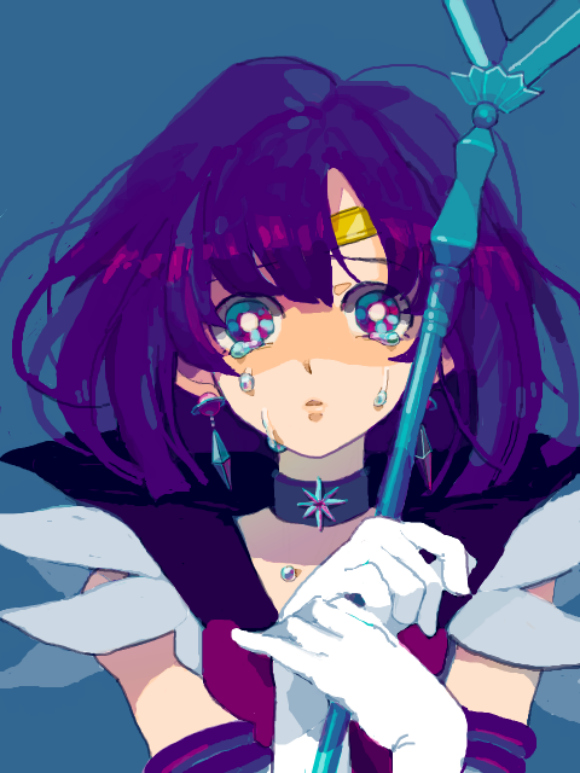 Tags: Anime, Bishoujo Senshi Sailor Moon, Tomoe Hotaru, Sailor Saturn, Silence Glaive, Glaive, Fanart