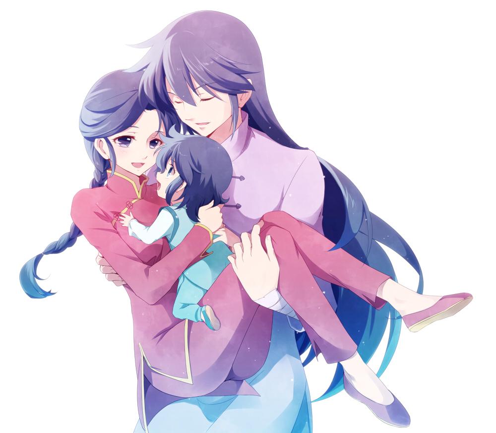 Картинки аниме мама и дочь