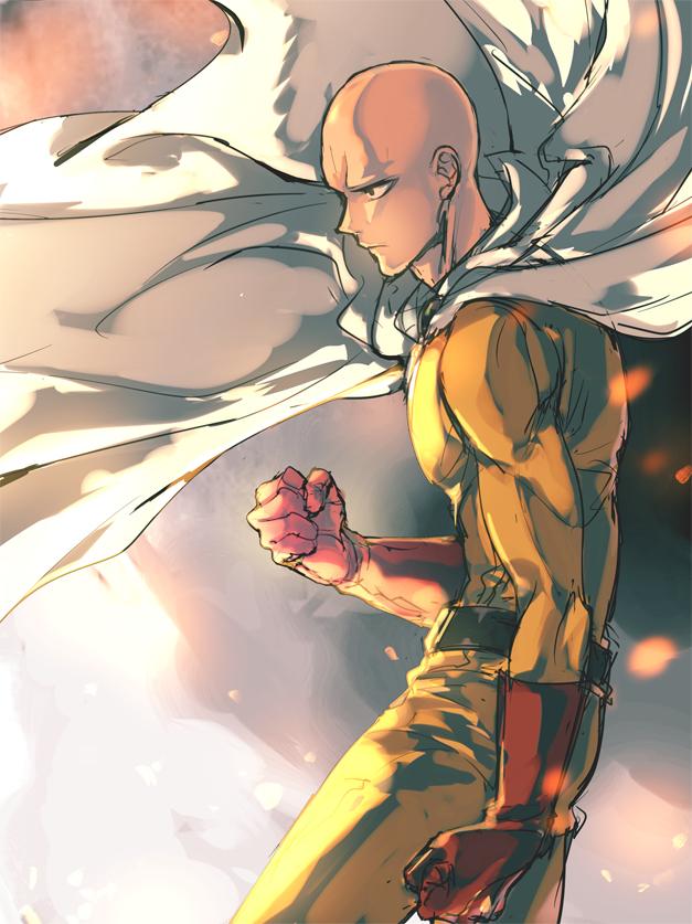 Tags: Anime, Sumi Tooru, One Punch Man, Saitama (One Punch Man), Mobile Wallpaper, Pixiv, Fanart, Fanart From Pixiv