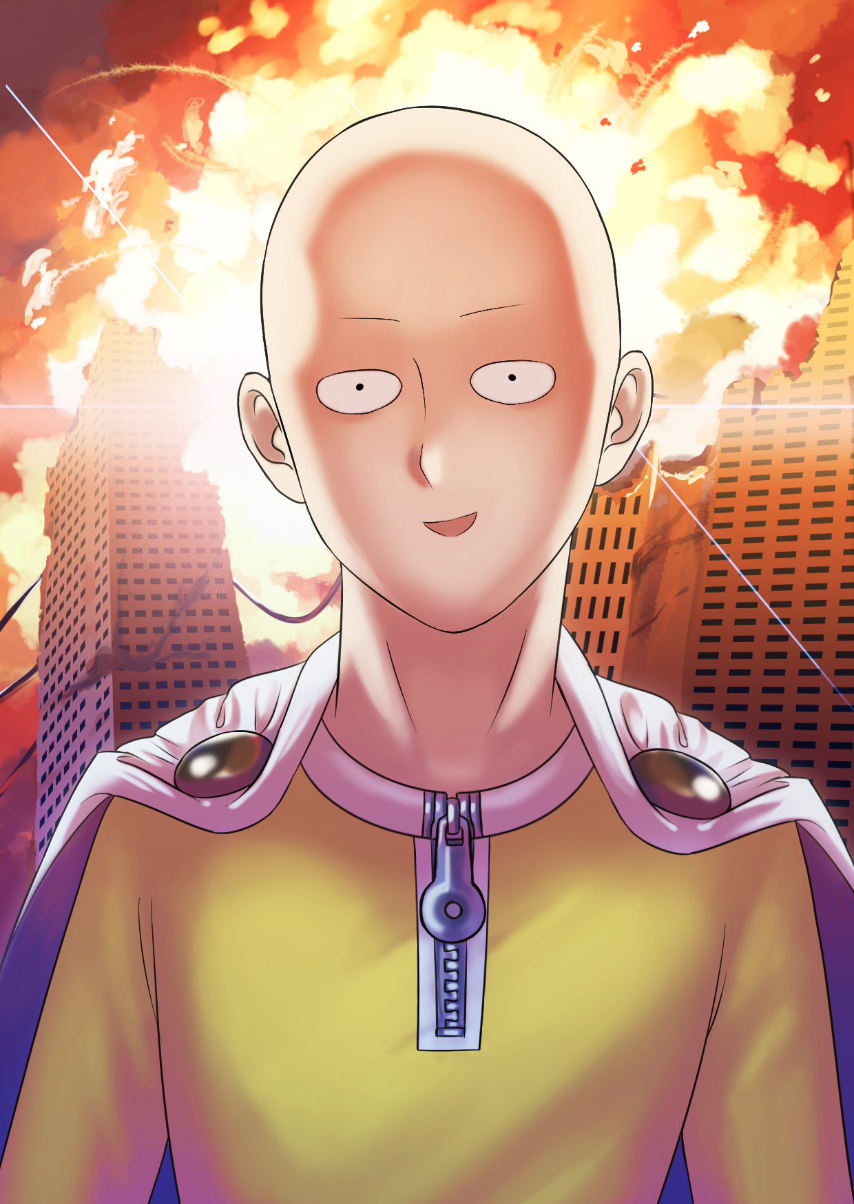 Saitama One Punch Man Mobile Wallpaper 2002383 Zerochan Anime