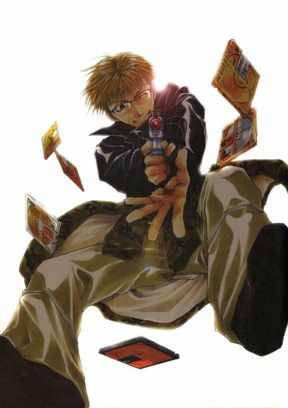 Tags: Anime, Kazuya Minekura, Bus Gamer, Saitou Kazuo, CD (Object)