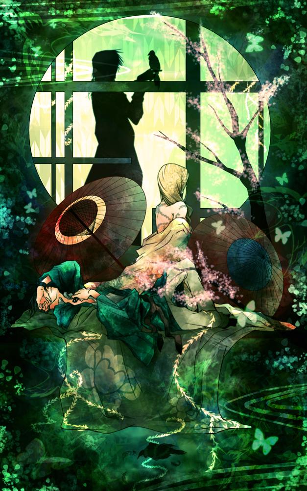 Tags: Anime, Amber (Artist), Saiyuki Gaiden, Saiyuki, Tenpou Gensui, Cho Hakkai, Round Window, Fanart, Mobile Wallpaper, Pixiv
