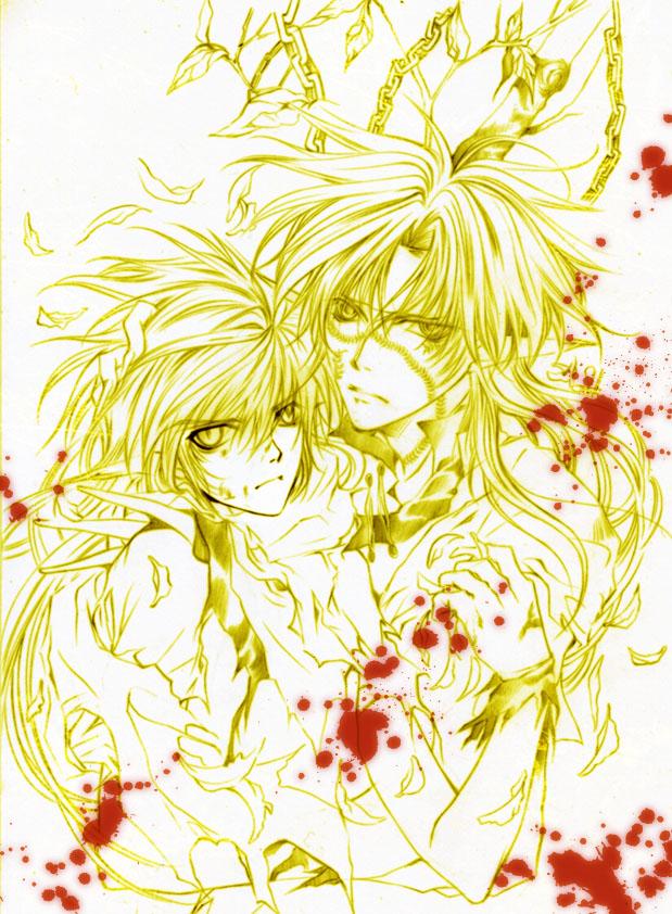 Tags: Anime, Mrsloth, Saiyuki, Son Goku (Saiyuki), Cho Hakkai, Kougaiji, Fanart, deviantART