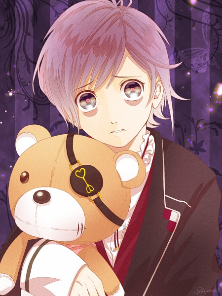Tags: Anime, Shiroma (Pixiv3880449), Diabolik Lovers ~Haunted dark bridal~, Sakamaki Kanato, Toy, Purple Background, Glow