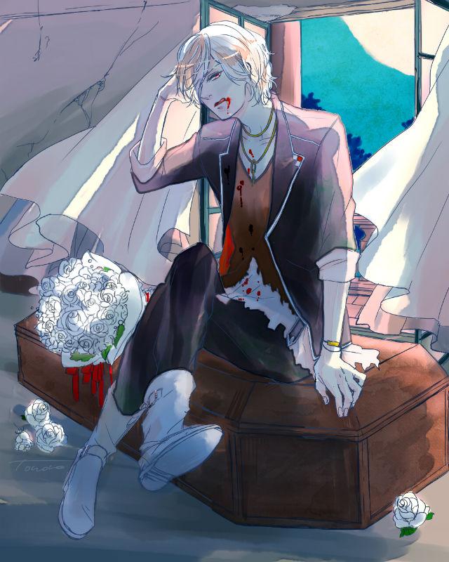 Tags: Anime, Pixiv Id 2158459, IDEA FACTORY, Diabolik Lovers ~Haunted dark bridal~, Sakamaki Subaru, Open Window, Coffin, Fanart, Fanart From Pixiv, Pixiv