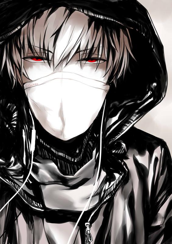 картинки парни аниме в масках