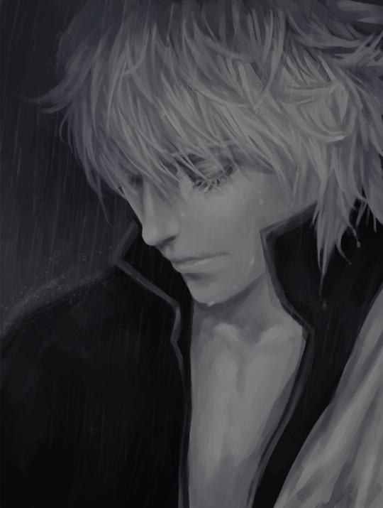 Tags: Anime, Fin, Gintama, Sakata Gintoki, Fanart, Pixiv, Gintoki Sakata