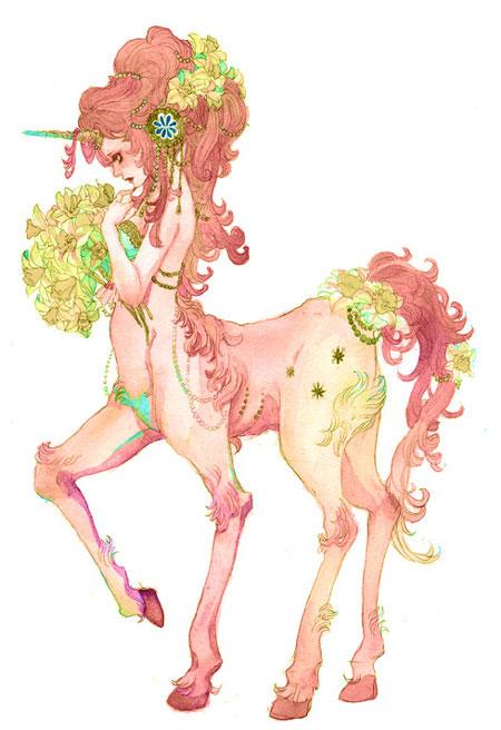 Tags: Anime, Sakizou, Centaur, Mobile Wallpaper, Pixiv