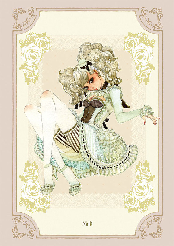 Tags: Anime, Sakizou, Milk, Mobile Wallpaper, Original, Traditional Media, Pixiv