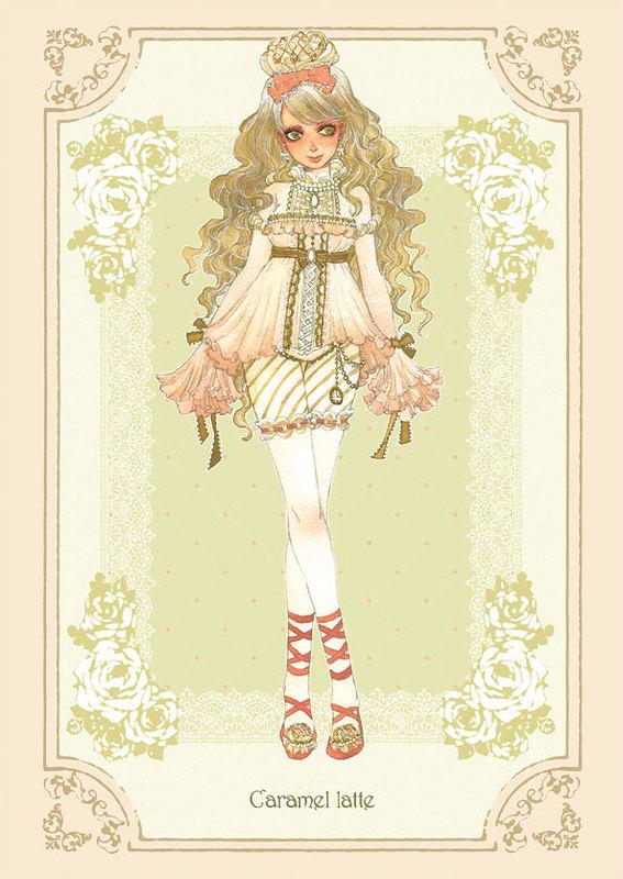 Tags: Anime, Sakizou, Coffee (Personification), Caramel Latte, Traditional Media, Mobile Wallpaper, Pixiv, Original