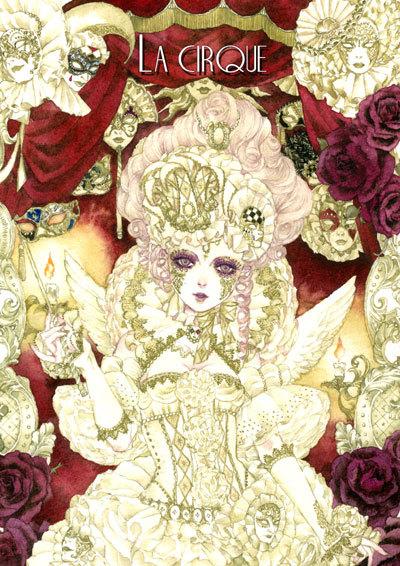 Tags: Anime, Sakizou, Rococo, Carnival Mask, Traditional Media, Mobile Wallpaper, Pixiv