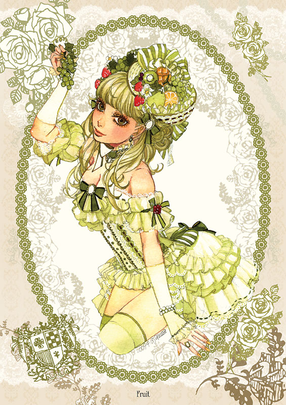 Tags: Anime, Sakizou, Kiwi (Fruit), Mobile Wallpaper, Pixiv
