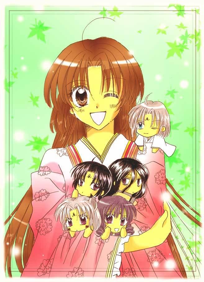 Tags: Anime, Maimai, Sakura-Hime Kaden, Rurijo, Sakura-hime, Ukyo (S-hk), Junihitoe, Fanart