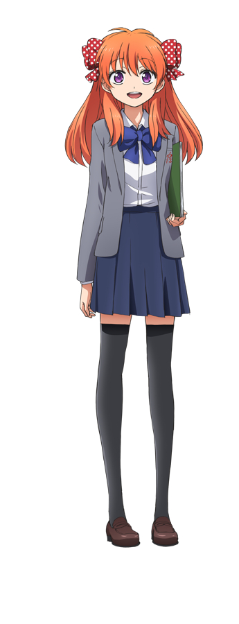 Tags: Anime, Taniguchi Junichiro, Dogakobo, Gekkan Shoujo Nozaki-kun, Sakura Chiyo, Spotted Bow, PNG Conversion, Cover Image, Official Art