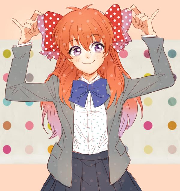 Tags: Anime, KANapy, Gekkan Shoujo Nozaki-kun, Sakura Chiyo, Spotted Bow, Spotted Shirt, Pixiv, Fanart, Fanart From Pixiv, PNG Conversion