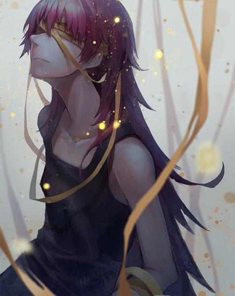 Tags: Anime, Die (Artist), Mahou Shoujo Madoka☆Magica, Sakura Kyouko, Androgynous, Yellow Ribbon, Covering Eyes