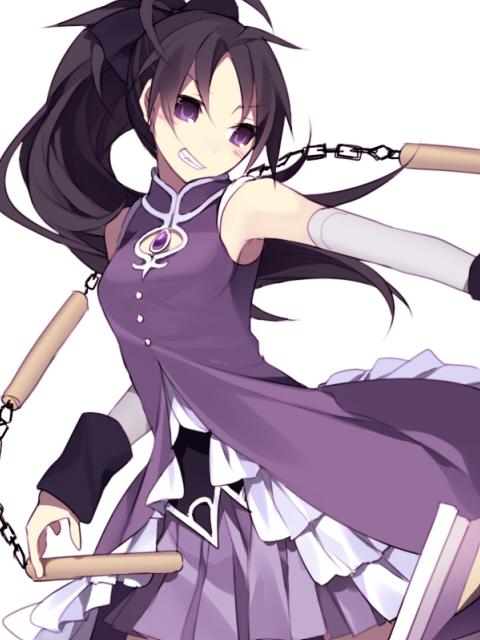 Tags: Anime, Hijiri, Mahou Shoujo Madoka☆Magica, Sakura Kyouko, Nunchaku, Pixiv, Fanart