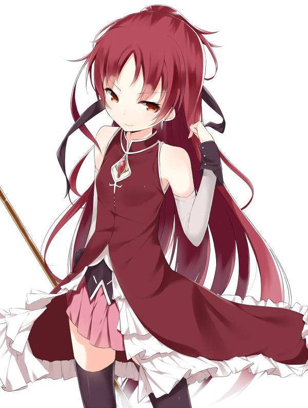 Tags: Anime, Soburi, Mahou Shoujo Madoka☆Magica, Sakura Kyouko, PNG Conversion