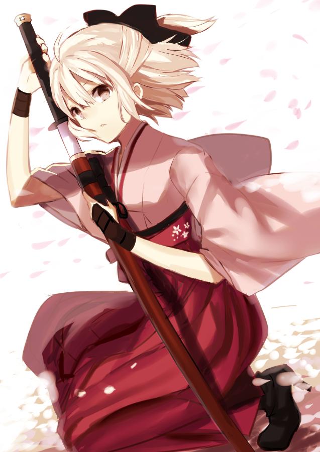 Tags: Anime, Shima Shinoji, Koha-Ace, Sakura Saber, PNG Conversion, Mobile Wallpaper