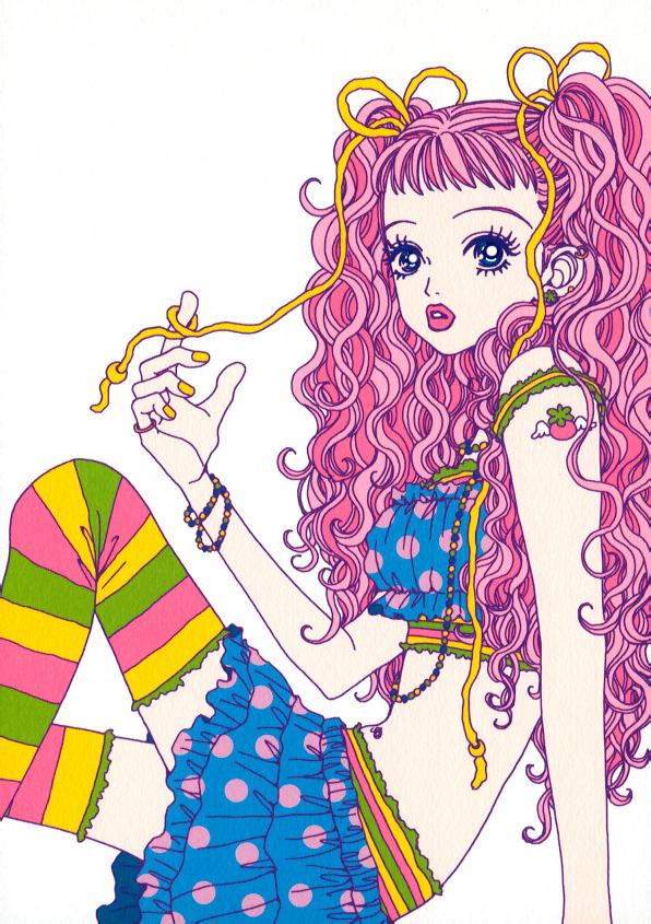 Tags: Anime, Paradise Kiss, Sakurada Miwako, Official Art, Scan, Mobile Wallpaper