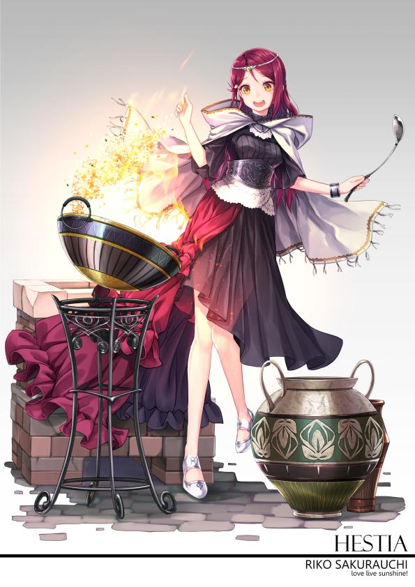 Tags: Anime, Ragnarok026, Love Live! Sunshine!!, Sakurauchi Riko, Vase, Ladle, Mobile Wallpaper