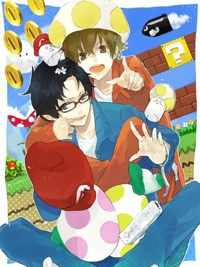 Tags: Anime, Jiku (0128hirosi), Pepper (Nico Nico Jikkyou), Salt (Nico Nico Jikkyou), Wiimote, Super Mario Bros. (Parody), Nico Nico Douga, Nico Nico Jikkyou, Salt and Pepper