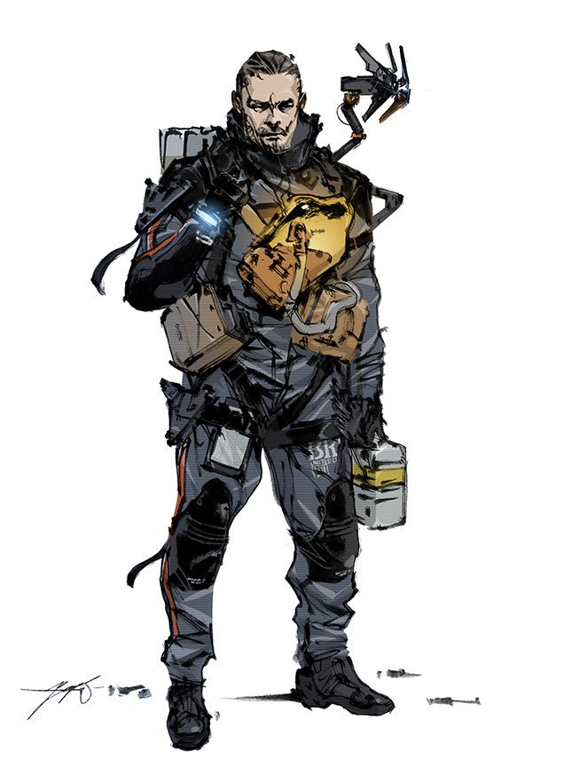 Tags: Anime, Shinkawa Yoji, Death Stranding, Sam (Death Stranding), Official Art