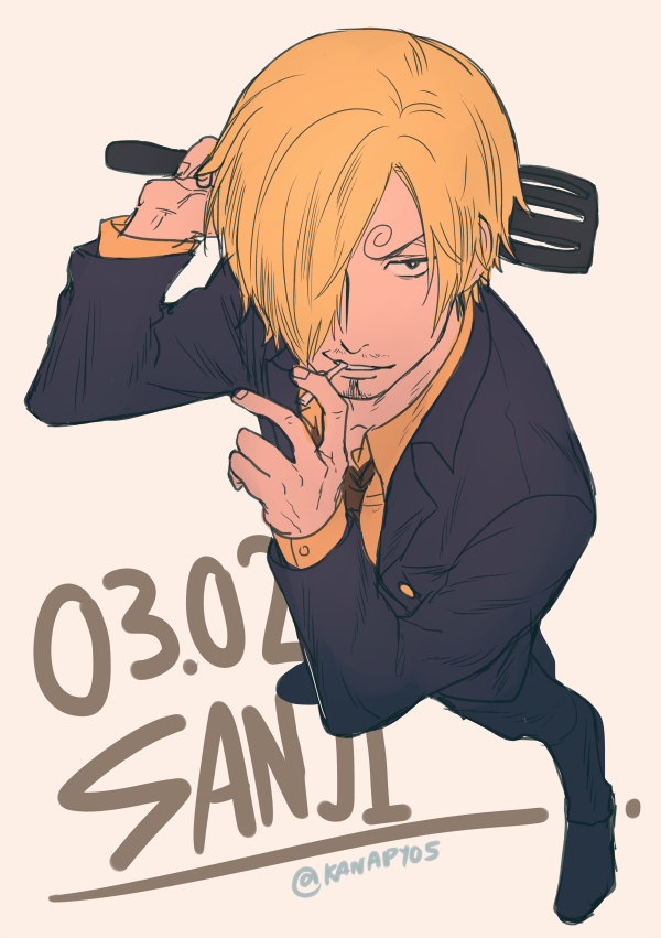 Tags: Anime, KANapy, ONE PIECE, Sanji, Cigarette, One Eye Showing