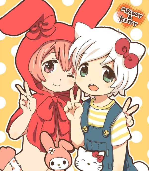Tags: Anime, Sanrio, Onegai My Melody, My Melody, Hello Kitty, Fanart