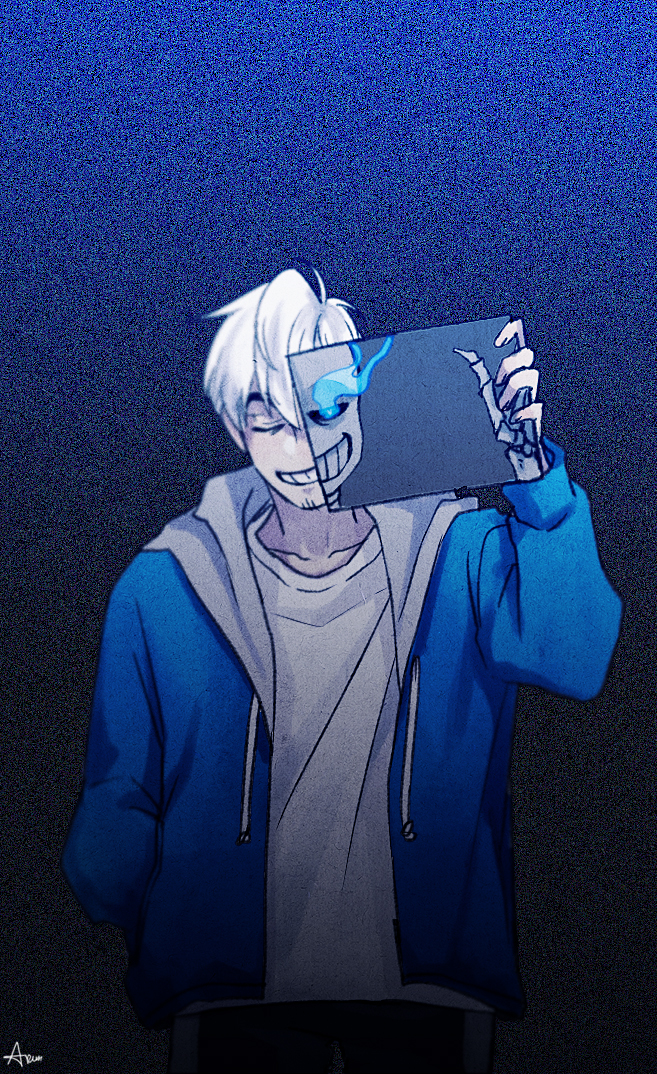 Tags: Anime, Lazuen, Undertale, Sans, Skeleton Arm, PNG Conversion, Fanart, Mobile Wallpaper, Tumblr