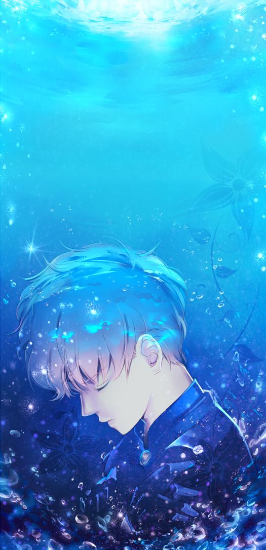 Tags: Anime, Saki Kunkatan, Bishoujo Senshi Sailor Moon, Saphir (BSSM), Drown, Lens Flare, Fanart, Pixiv