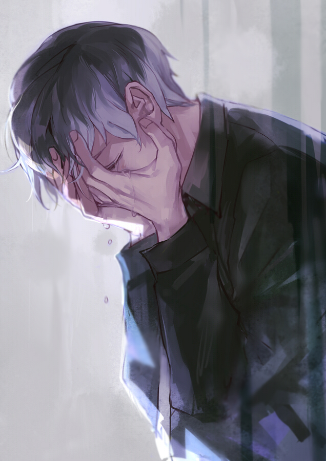 Tags: Anime, bbirdd, Tokyo Ghoul:re, Sasaki Haise, Covering Face, Fanart From Pixiv, Mobile Wallpaper, Pixiv, Fanart