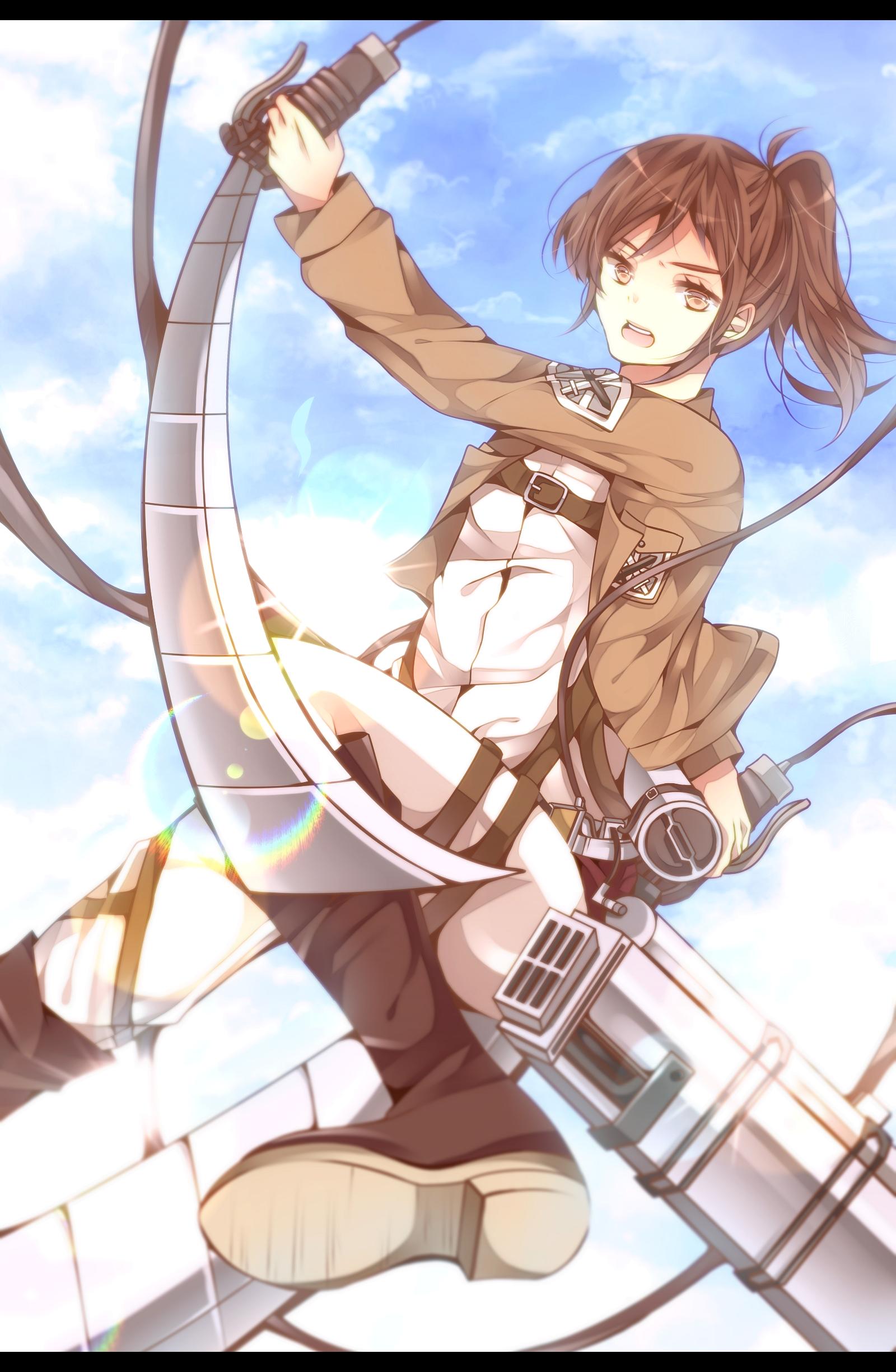 Sasha Braus Sasha Blouse Attack On Titan Mobile Wallpaper 1502953 Zerochan Anime Image Board