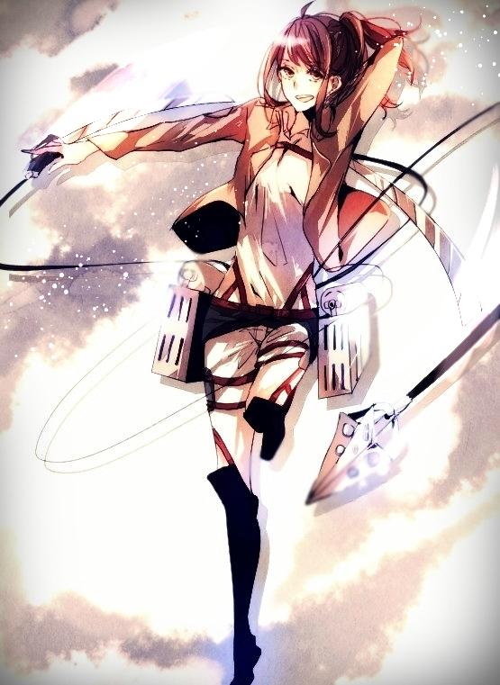 Tags: Anime, Pixiv Id 3475031, Attack on Titan, Sasha Braus, Fanart, Fanart From Pixiv, Mobile Wallpaper, Pixiv, Sasha Blouse