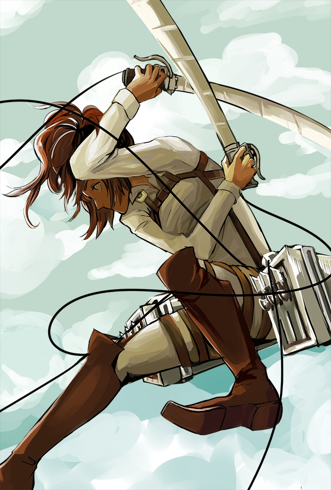 Tags: Anime, Pixiv Id 2511031, Attack on Titan, Sasha Braus, Pixiv, Mobile Wallpaper, Sasha Blouse