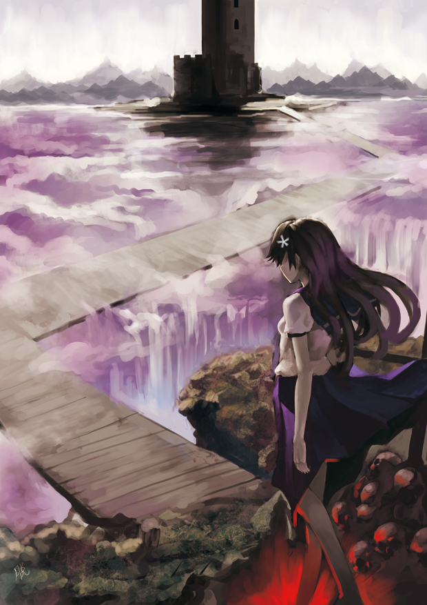 Tags: Anime, AiTuoKu, To Aru Kagaku no Railgun, To Aru Majutsu no Index, Saten Ruiko, Waterfall, Mobile Wallpaper