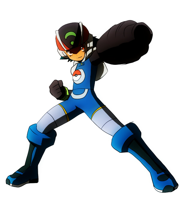 Tags: Anime, Pixiv Id 3818451, Pokémon, Satoshi (Pokémon), Megaman (Cosplay), Arm Cannon, Cannon, Rockman (Parody), Ash Ketchum