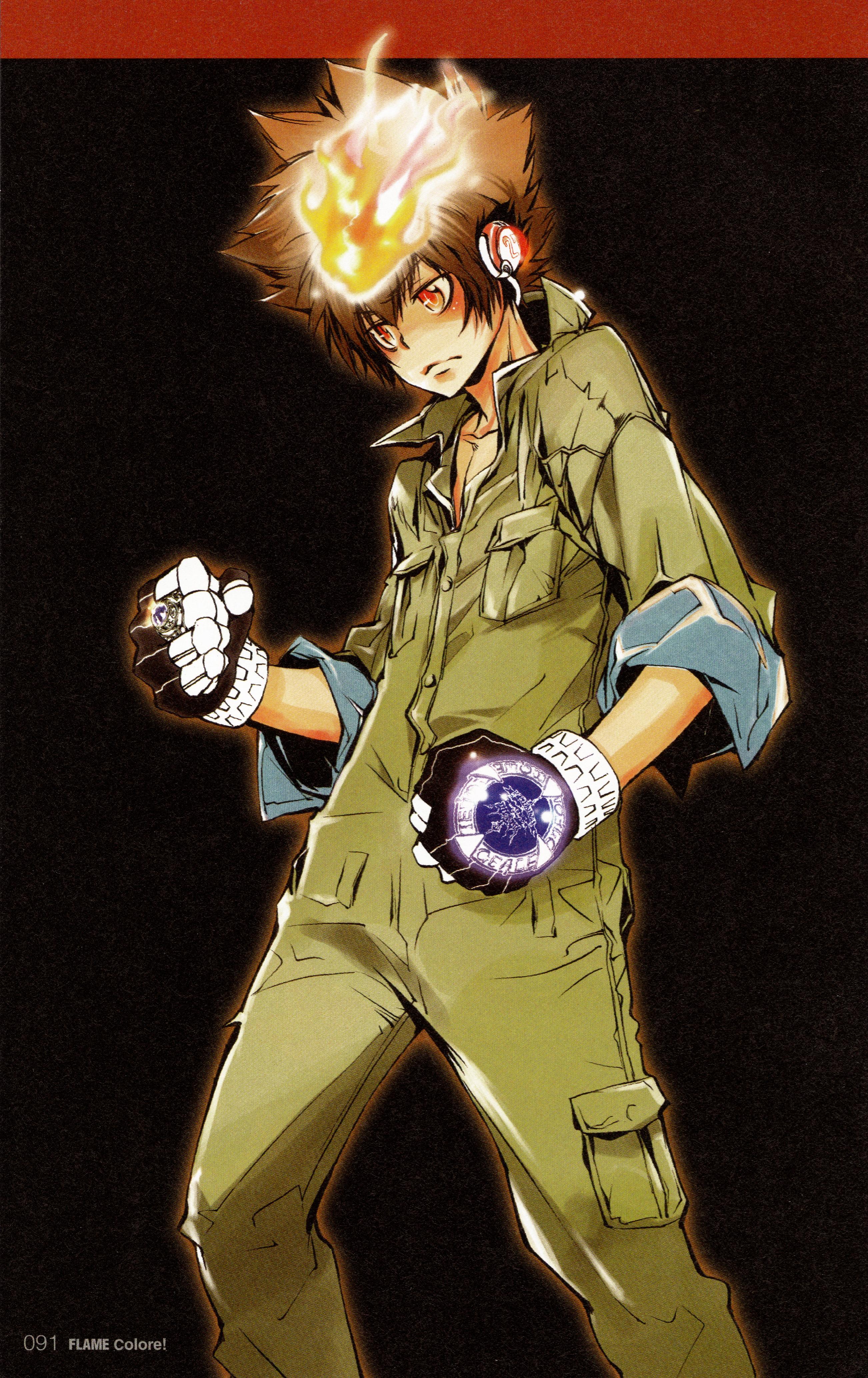 Anime Characters Jumpsuit : Sawada tsunayoshi katekyo hitman reborn mobile