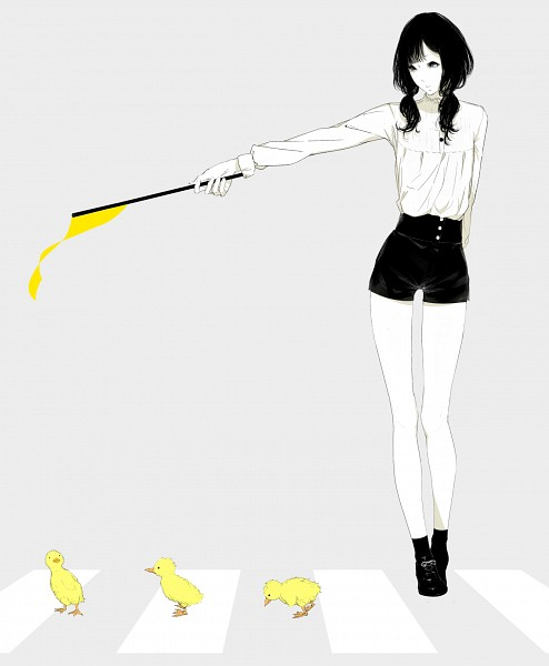 Tags: Anime, Sawasawa, Spot Color, Little Yellow Bird