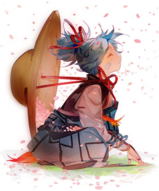 Tags: Anime, Namie-kun, Touken Ranbu, Sayo Samonji, Bamboo Hat, Twitter, PNG Conversion, Fanart