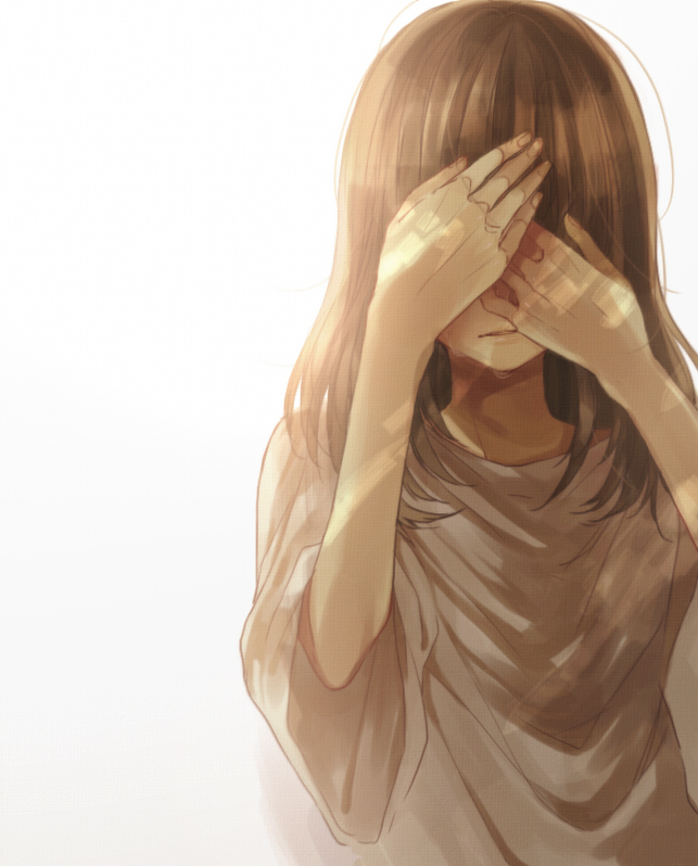 Tags: Anime, Pixiv Id 1744033, VOCALOID, Fan Character, Covering Face, Sad
